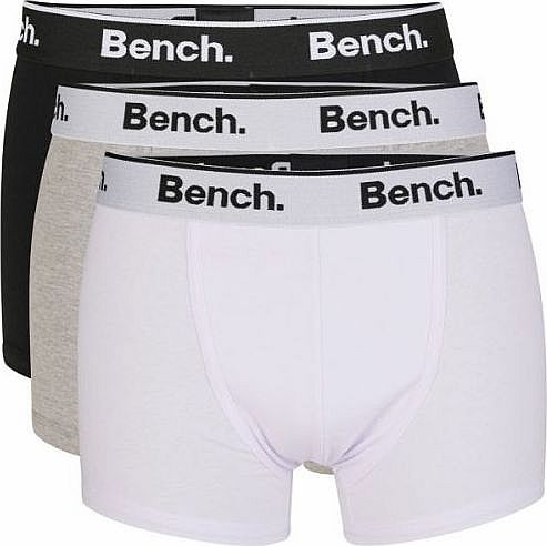 Bench Keddie 3 Pack Boxer Short Trunks Black/White/Grey - M (33-35in) product image