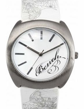 Bench Ladies Watch BC0392WHWH with White Dial and Printed Strap