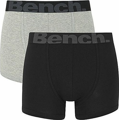 Bench Mens 2 Pack Fashion Trunks - Black/Grey - L product image