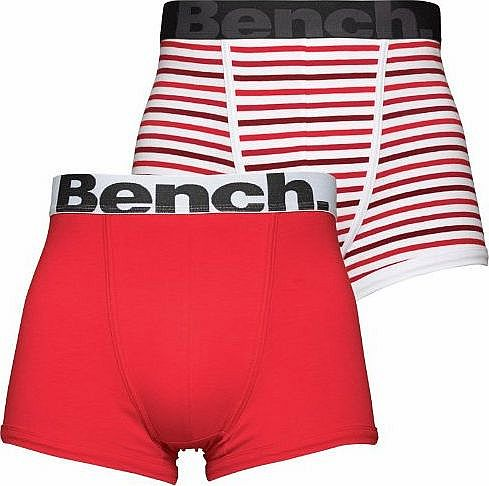Bench Mens Bench Two Pack Trunks Red Guys Gents (S Fit Waist 29-32`` (73-82cm)) product image