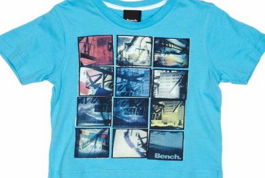 Bench Snap Shot Boys T-Shirt Turquoise Blue 9-10 Years