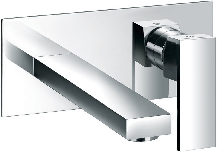 2 hole wall mounted basin mixer with