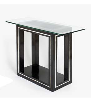Bentley Designs Athena Rectangular Glass Console Table in Black