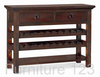 Todela Dark Console Table with Wine Rack