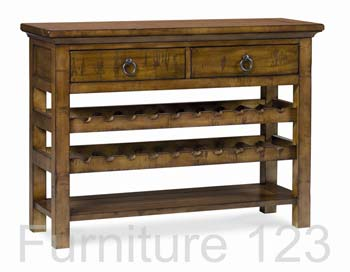 Todela Light Console Table with Wine Rack