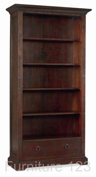 Toledo Dark Wide Bookcase