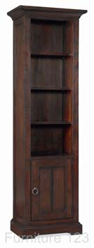 Tomoka Dark Narrow Bookcase