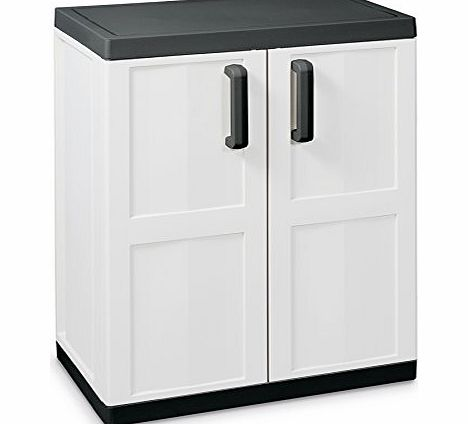 Bentley Garden Storage Outdoor Plastic Shed Cabinet Kitchen Garage Cupboard Grey Review
