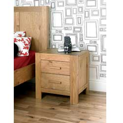 Bentley Lyon Oak 2 Drawer Bedside Table product image