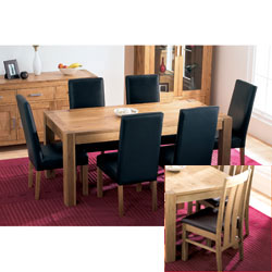 Bentley Lyon Oak Extendable Dining Table & 6 Slatted product image