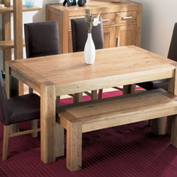 Bentley Lyon Oak Small Dining Table & 4 Slatted Backed product image