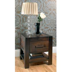 Bentley Lyon Walnut 1 Drawer Bedside Table product image