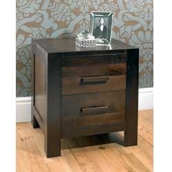 Bentley Lyon Walnut 2 Drawer Bedside Table product image