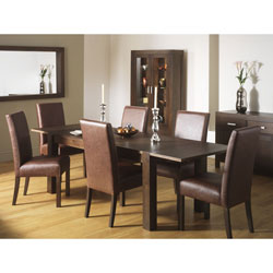 Bentley Lyon Walnut Extendable Dining Table & 6 Grand product image