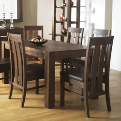 Bentley Lyon Walnut Extendable Dining Table & 6 Slatted product image