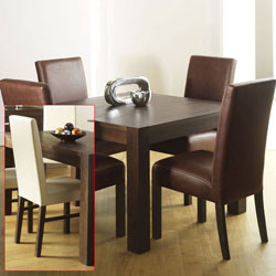 Bentley Lyon Walnut Square Dining Table & 4 Standard product image