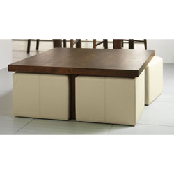 Panama coffee tables for Square coffee table with stools