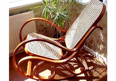 Bentwood NEW HONEY BENTWOOD ROCKING CHAIR BIRCH WOOD amp; RATTAN THONET LIVING BED ROOM CONSERVATORY MATERNITY product image