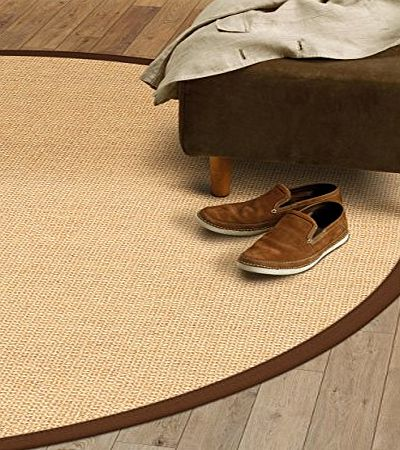 benuta Modern Rug Sisal Brown  200 cm round / SALE / Quality label: pollution-free / Pile material: 100% Sisal / Pile height: 6 - 10 mm / Pattern: Sisal / Weave:Machine woven / Living Space: Kitchen product image