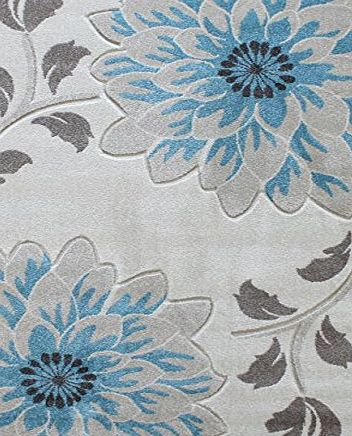 benuta Modern Rug Vogue Blue 120x170 cm / SALE / Quality label: pollution-free / Pile material: 100% Polypropylene / Pile height: 11 - 20 mm / Pattern: Floral / Weave:Handwoven / Living Space: Living product image