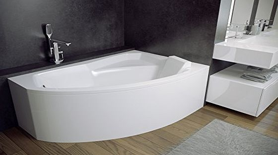 Besco RIMA Offset Corner Bath SPACE SAVER 1300 x 850mm RIGHT HAND