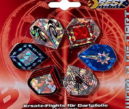 Best Sport Dart Flights Jumbo Pack - Multi-Colour