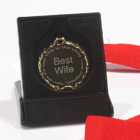 BEST Wife Medal Ribbon and Box product image