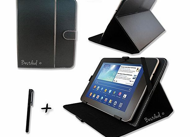 Bestdeal Black PU Leather Case amp; Stand for LINX Windows 8 10.1`` inch Tablet PC + Stylus Pen product image