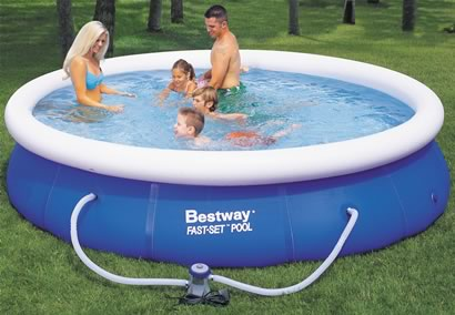 bestway 12ft fast set pool outdoor toy review compare prices buy online. Black Bedroom Furniture Sets. Home Design Ideas