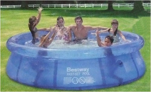 Bestway 8 foot fast set garden paddling pool with free dvd for Garden paddling pools