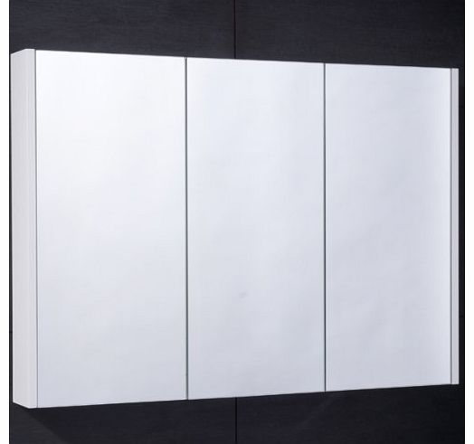 better-bathrooms-900mm-bathroom-mirrored-cabinet-wall-mounted-hung-glass-shelved-trip Triple Mirror Bathroom Cabinet