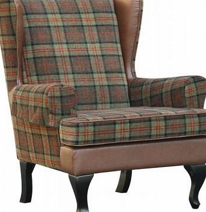 BetterLife Stirling Tartan High Back Chair Orthopedic Fireside Arm Chair - 20`` or 22`` Seat Height