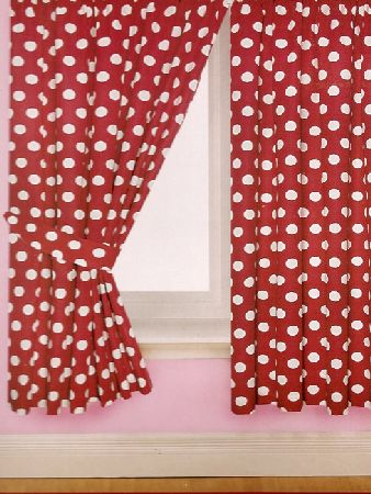 Laura Ashley Striped Curtains Red Polka Dot Table Runners