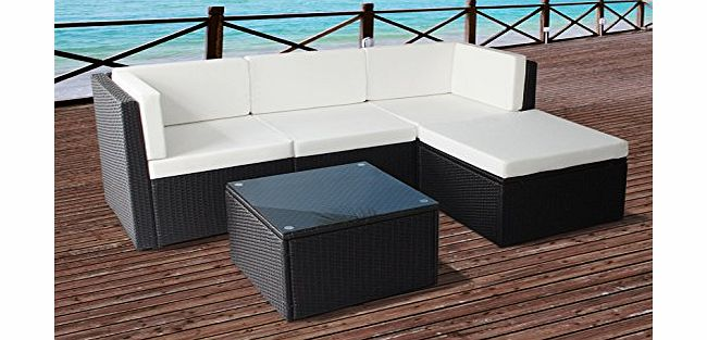 Beyond Furniture Rattan Modular Corner Sofa Set Garden Conservatory Furniture 5 To 9 Pcs (Milano, Brown)