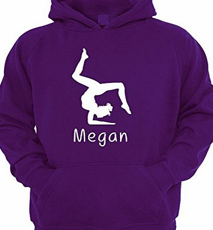 Beyondsome Girls Personalised Gymnastics Hoodie - Various Colours Available (7-8, Purple - White Print)