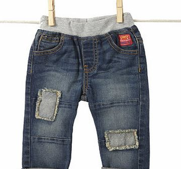 Baby Boys Indigo Patch Jeans with Jersey