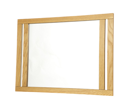 Unique Croydex WA683376 Wall Mirror In Oak  Traditional  Bathroom Mirrors