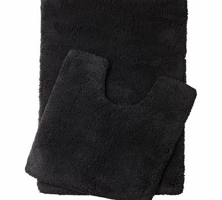 Black Ultimate bath and pedestal mats range,