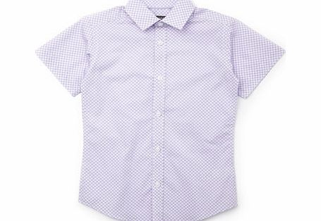 Bhs Boys Lilac Short Sleeve Ditsy Print Shirt, lilac product image