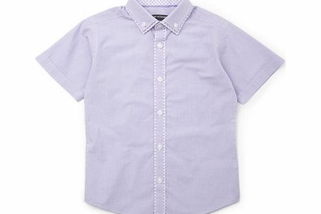 Bhs Boys Lilac Short Sleeve Gingham Shirt, lilac product image