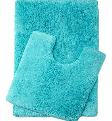 Bright Turquoise Ultimate bath and pedestal mats