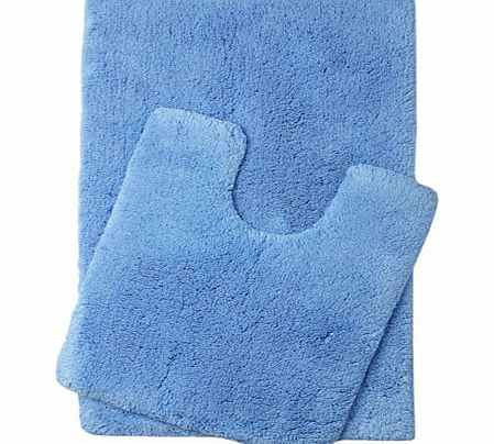Cornish blue Ultimate bath and pedestal mats