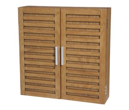 bhs double door bathroom cabinet in oak