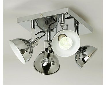 Hardy plate spotlights, chrome 9782060409