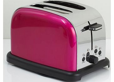 Bhs Hot Pink Essentials 2 Slice Toaster, HOT PINK