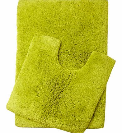 Lime Ultimate bath and pedestal mats range, lime