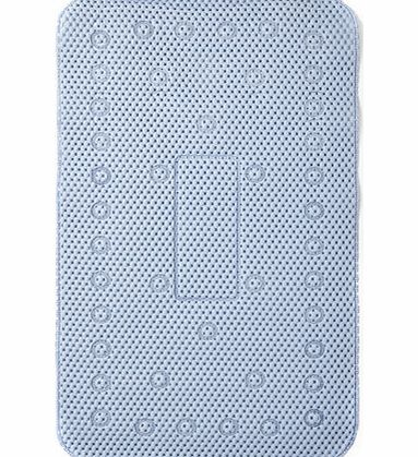 Sabichi Blue Soft Foam Bath Mat, pale blue