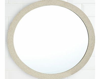 Sand Resin Round Wall Mounted Mirror, sand