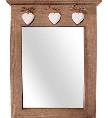 Sass & Belle wooden mirror with decorative