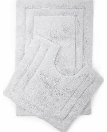 Silver Egyptian cotton plush mats, silver